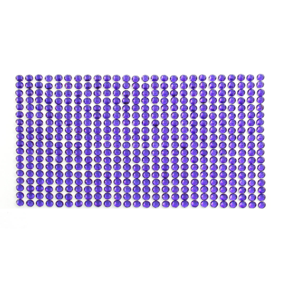 Purple 5mm Round Self Adhesive Bling Crystal Rhinestone Stickers for Car Mobile PC Decoration