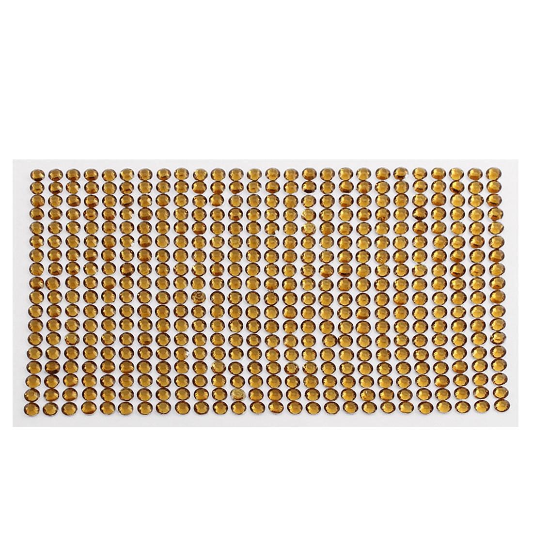 Dark Brown 5mm Round Self Adhesive Bling Crystal Rhinestone Decorating Stickers