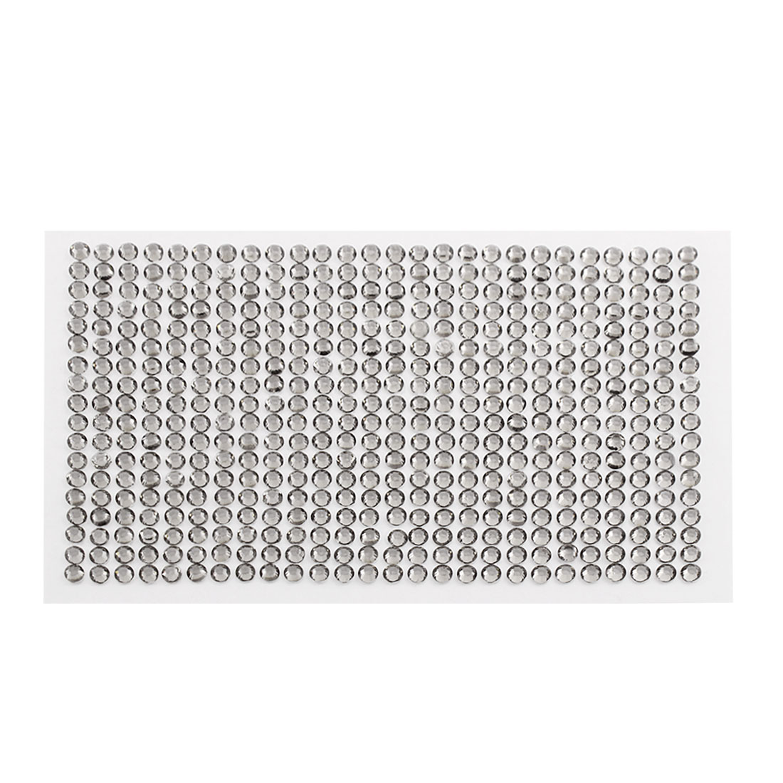 Gray 5mm Round Self Adhesive Bling Crystal Rhinestone Stickers for Car Mobile PC Decoration