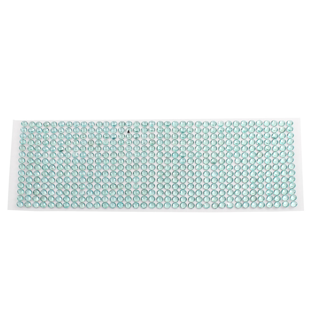 Light Blue Self Adhesive Bling Crystal Rhinestone Decorating DIY Stickers 255mm x 90mm