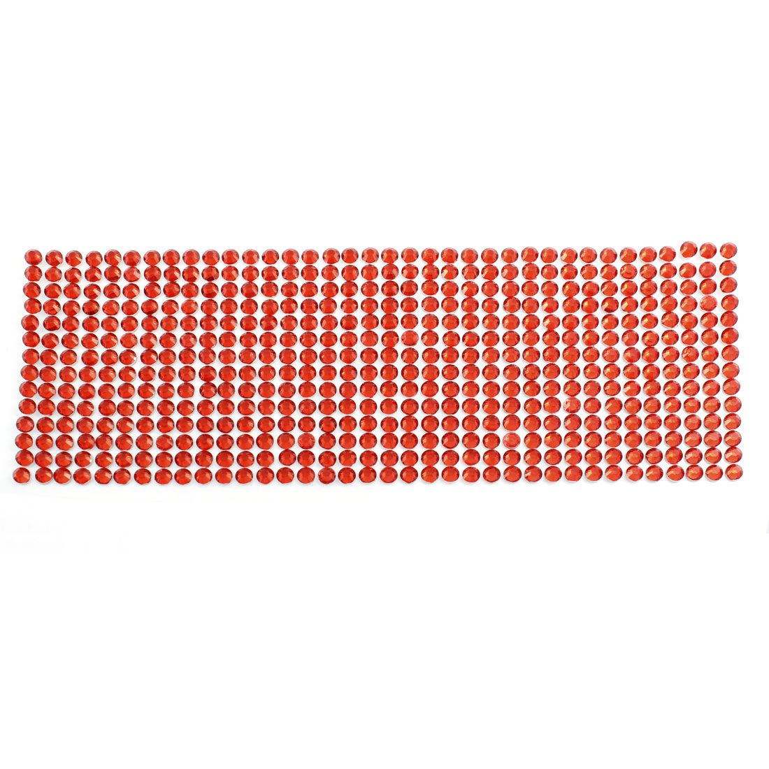 Red Self Adhesive Bling Crystal Rhinestone Decorating DIY Stickers 255mm x 90mm
