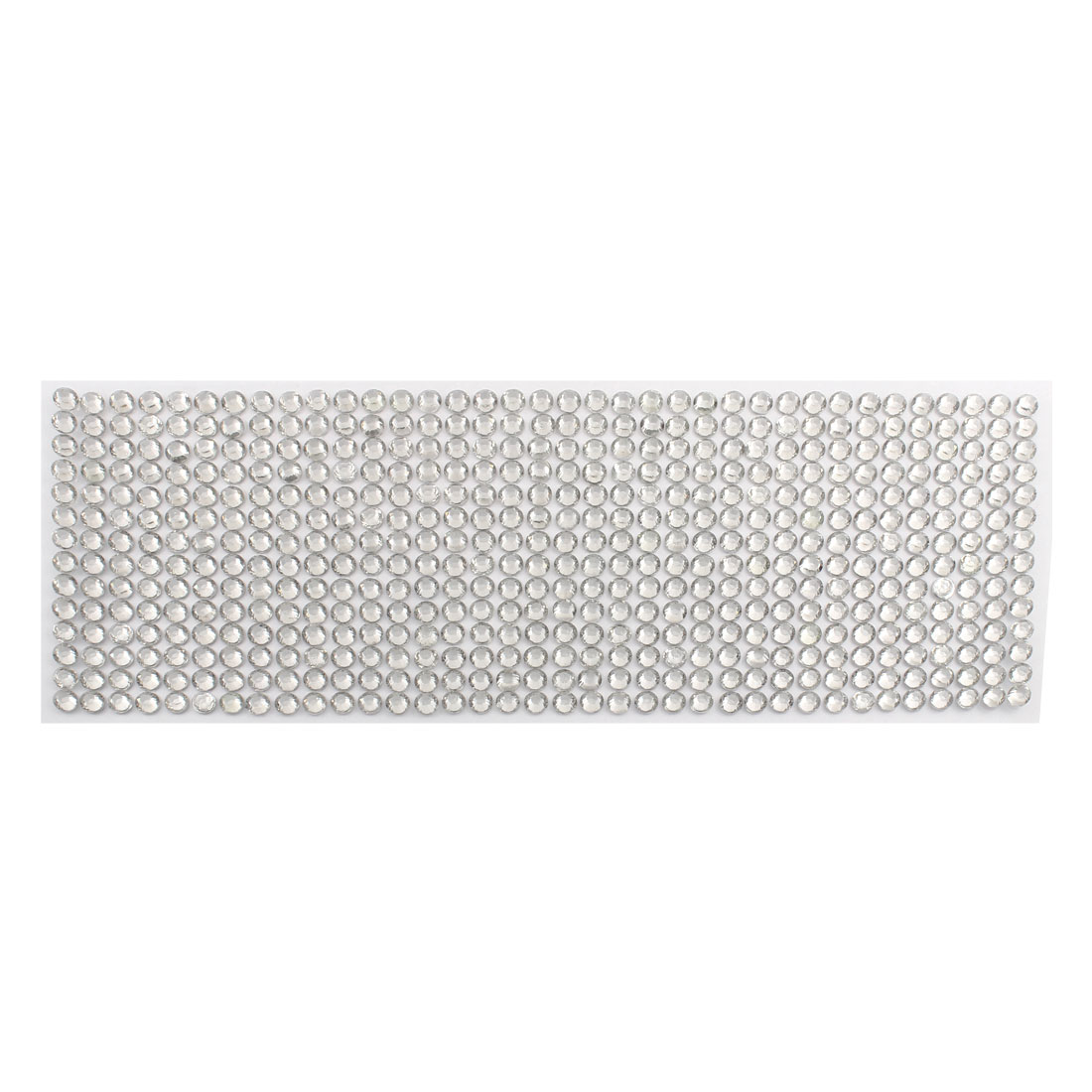 Silver Tone Self Adhesive Bling Crystal Rhinestone Decorating DIY Stickers 255mm x 90mm