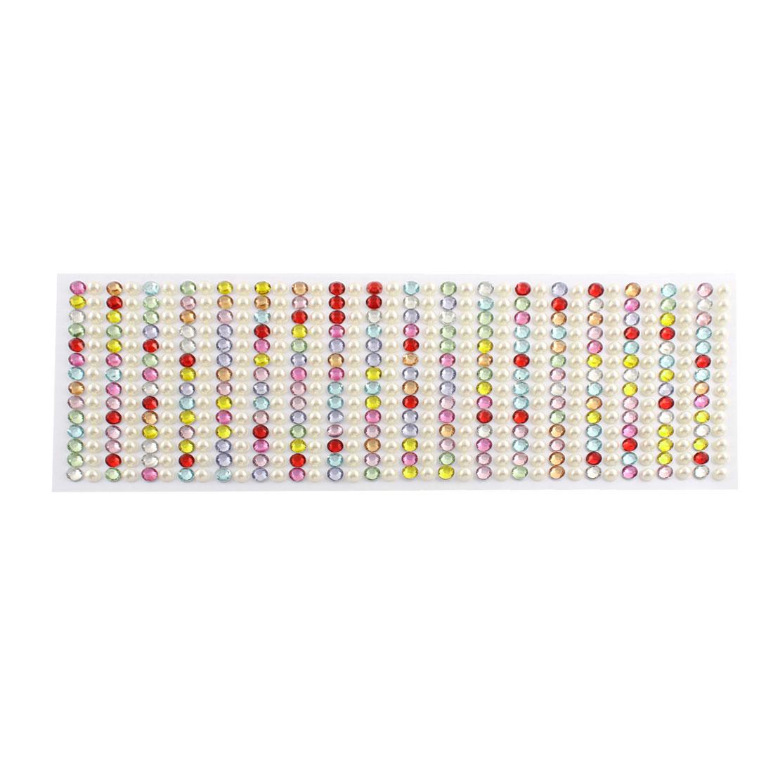 Multicolor Self Adhesive Bling Crystal Rhinestone Decorating DIY Stickers 255mm x 90mm