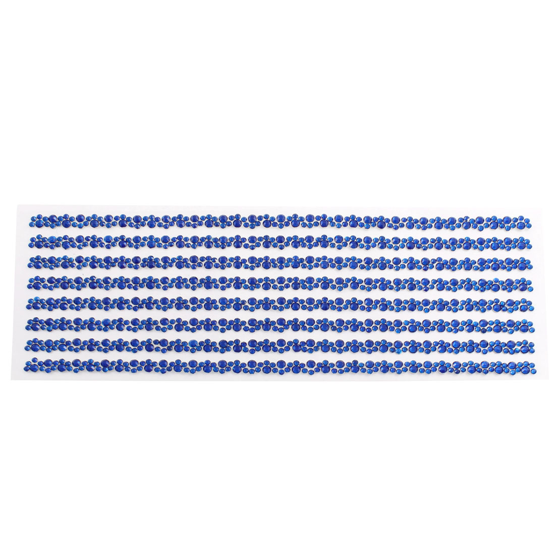 Blue Self Adhesive Crystal Rhinestone Car Decorating DIY Stickers 255mm x 90mm