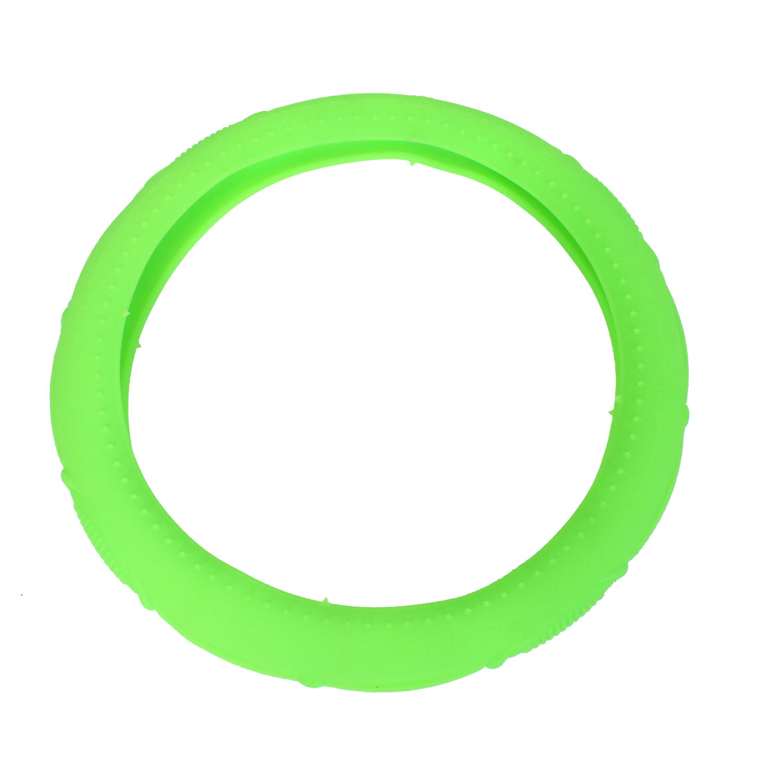 33cm-46cm Dia Nonslip Odorless Silicone Steering Wheel Cover Green for Truck