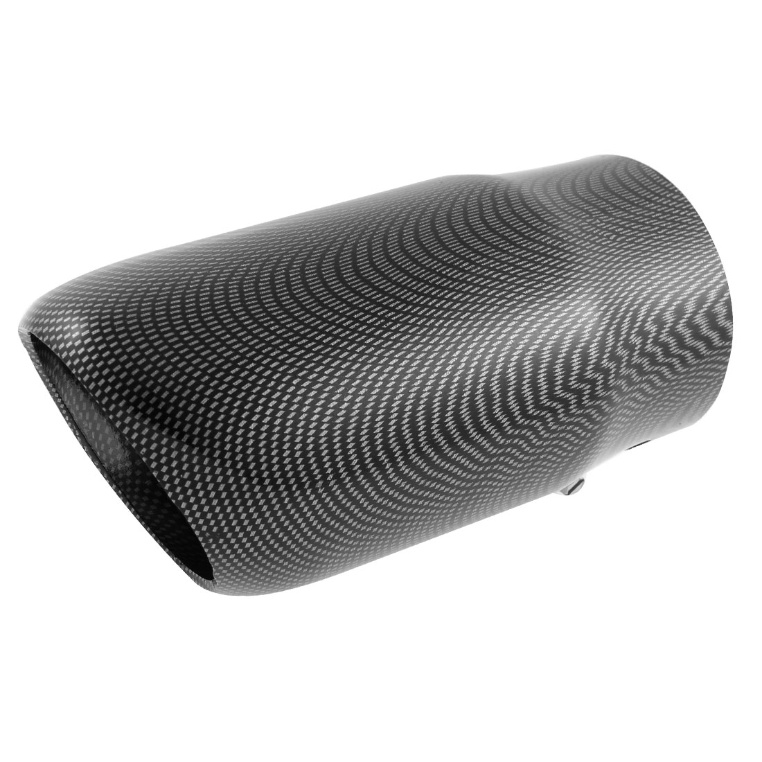 Carbon Fiber Pattern 70mm Inlet Slant Cut Car Exhaust Muffler Tip for Audi Q5-1