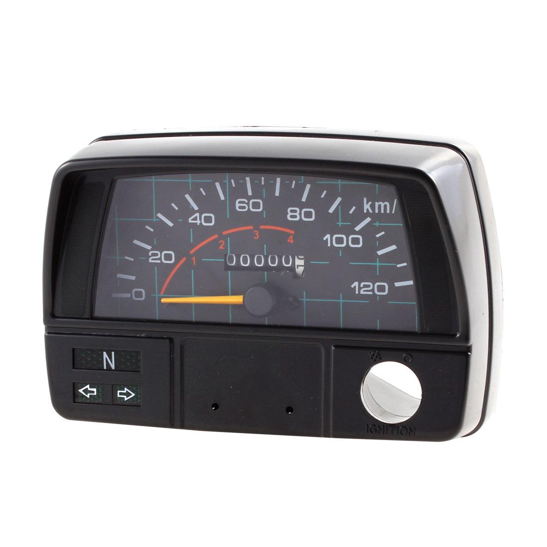0-120km/h Motorcycle Analog Odometer Speedometer Meter Gauge DC 12V for JH-70