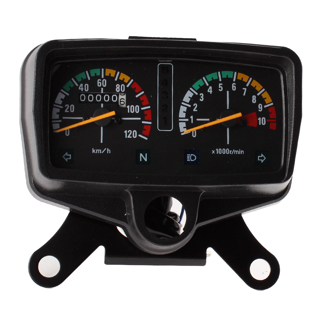 0-120km/h Analog Tachometer Odometer Speedometer Gauge for Motorcycle ZI
