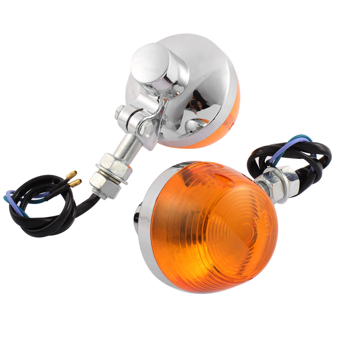 Pair Yellow Front Indicator Motorbike Turn Signal Light Blinker Lamp for CM-125