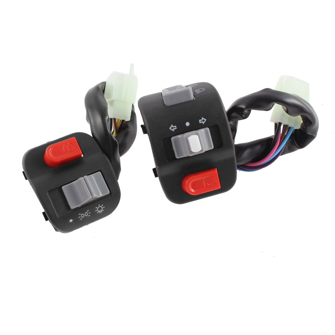 Motorbike Handlebar Horn Turn Signal Headlight Switch Controller Pair for Yamaha