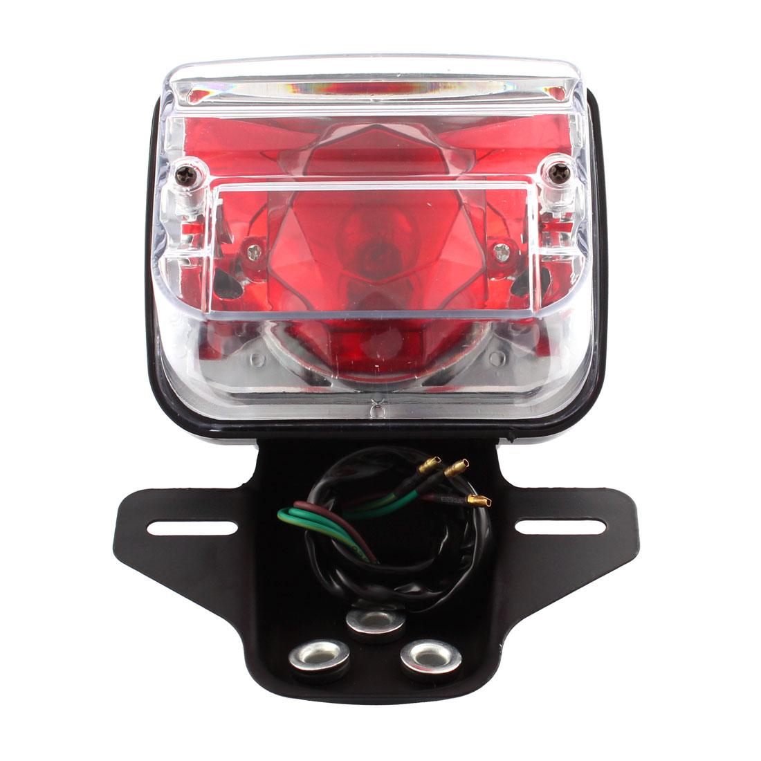 Motorcycle Tail Light Red LED Brake Running Lights for CG-125