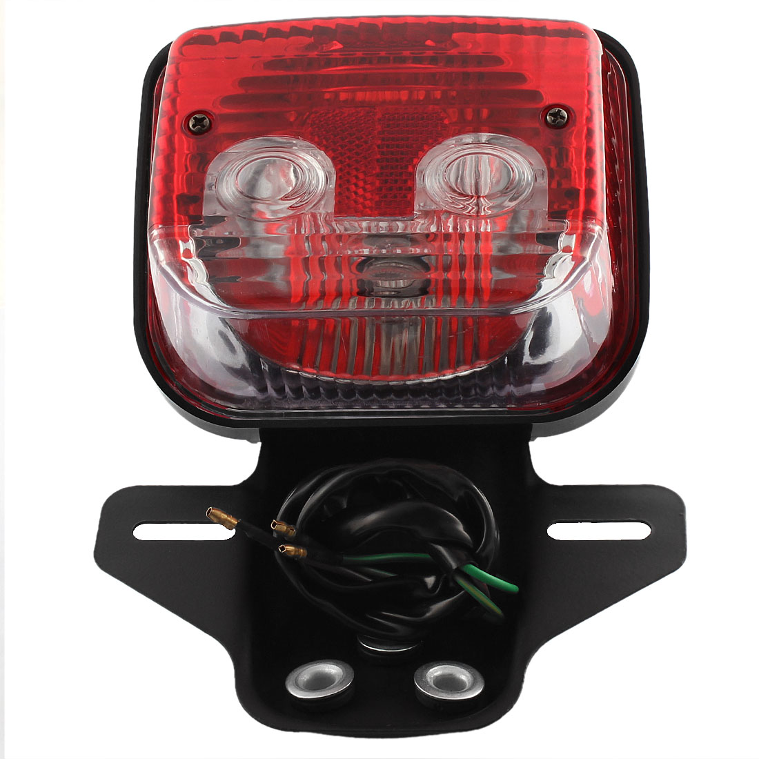 Red Yellow LED Tail Turn Signal Brake License Plate Light for Motorcycle CG