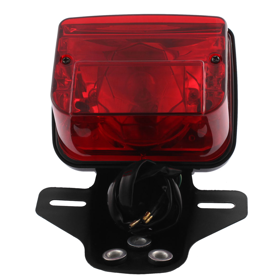 Motorcycle Red LED Tail Turn Signal Brake License Plate Integrated Light for CG