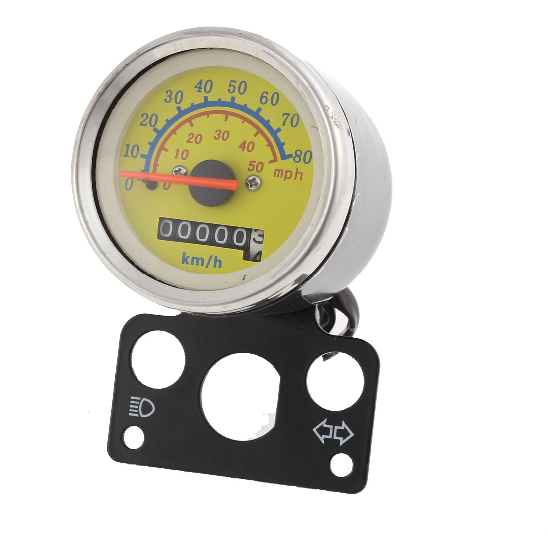 DC 12V Motorcycle Scooter Analog Gauge Odometer Speedometer 0-80km/h for Suzuki