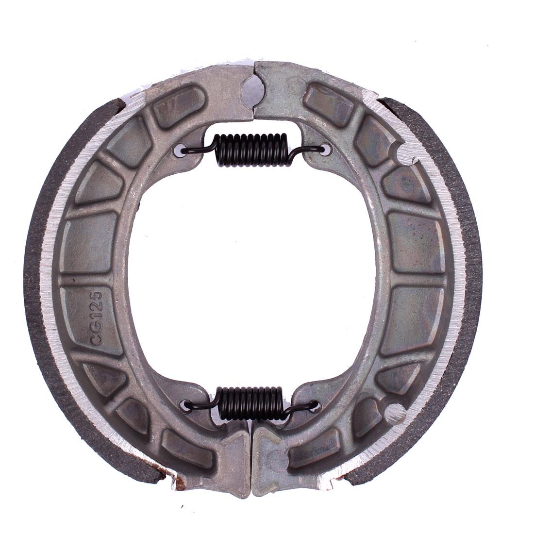 """Motorbike Metal Ceramic Springs Rear Brake Shoes Drum Pad 4.1"""" Dia for CG125"""