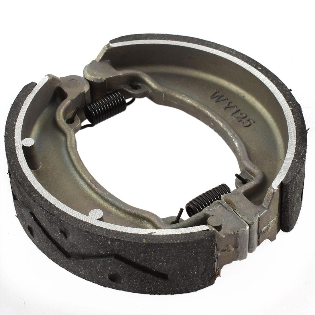 120 x 30mm Gray Motorcycle Metal Rear Braking Brake Shoes Drum Pad for WY125