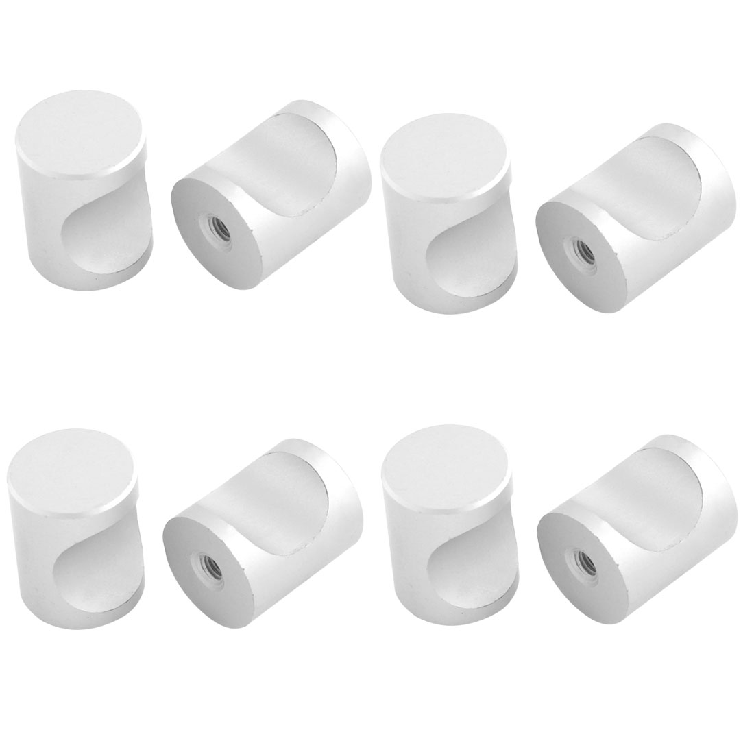 8pcs Aluminum Alloy Cabinet Drawer Cupboard Door Cylinder Shape Pull Handles