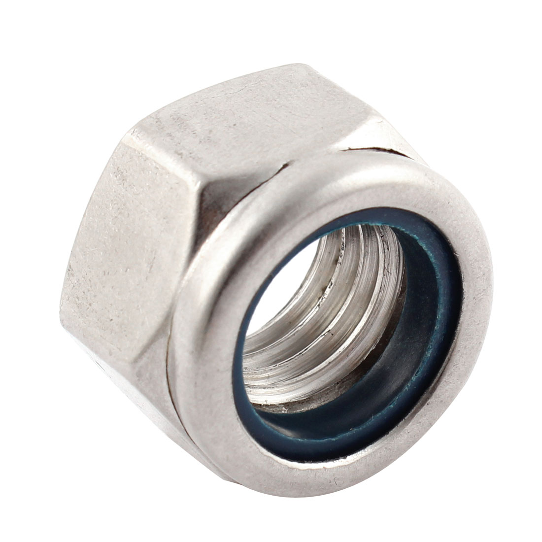 M18x2.5mm Metric Stainless Steel Anti-loose Nylon Insert Lock Hex Nuts