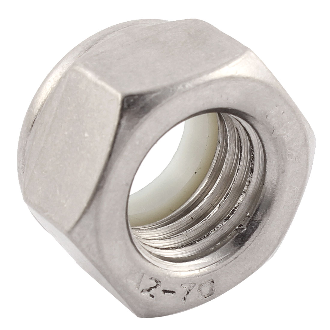 M20x2.5mm Stainless Steel Nylon Insert Lock Anti-loose Hex Nuts