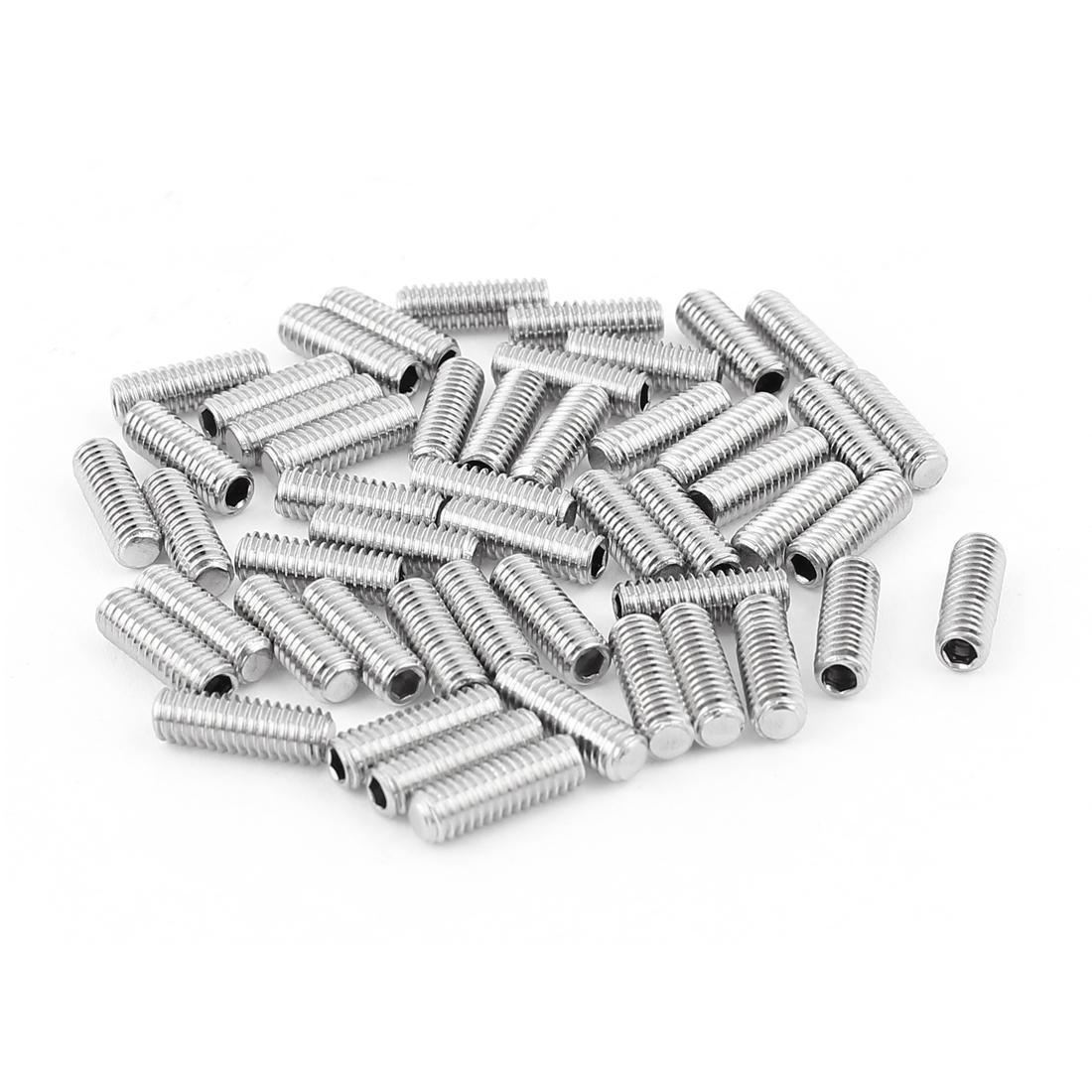 4mm x 12mm Stainless Steel Hexagon Socket Head Set Cup Point Grub Screws 50pcs