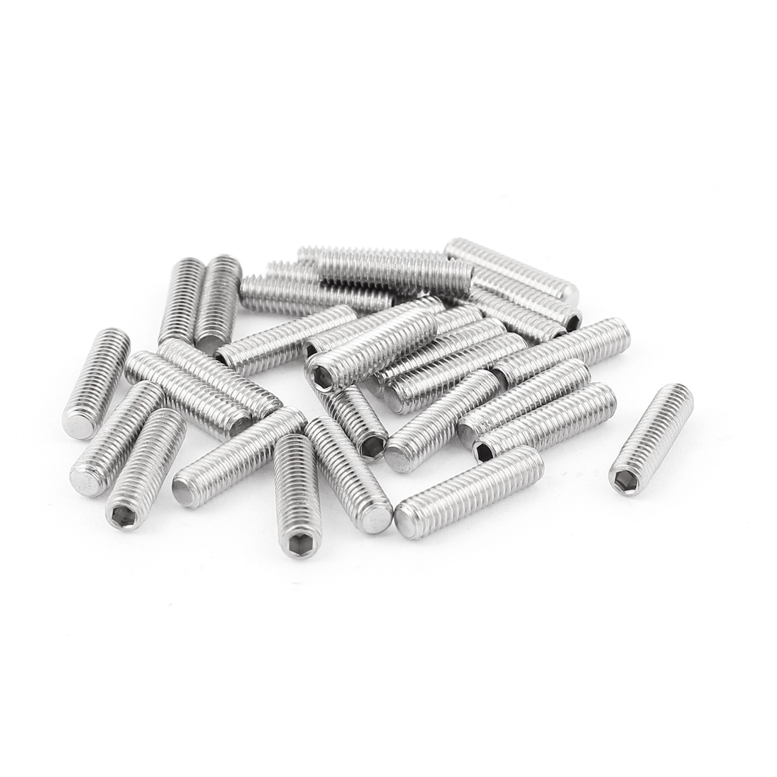 4mm x 16mm Stainless Steel Hexagon Socket Head Set Cup Point Grub Screws 30pcs