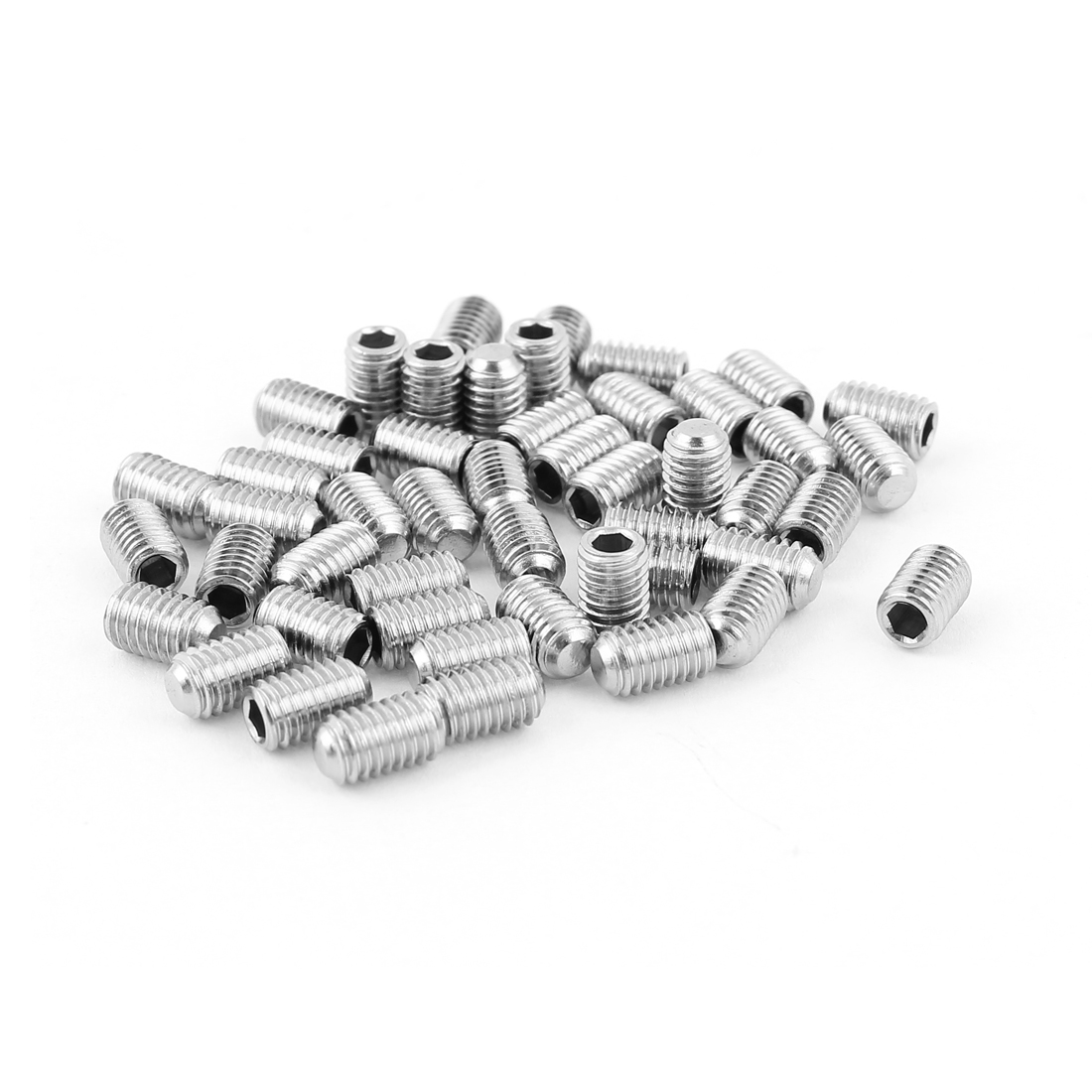 5mm x 8mm Stainless Steel Hexagon Socket Head Set Cup Point Grub Screws 50pcs