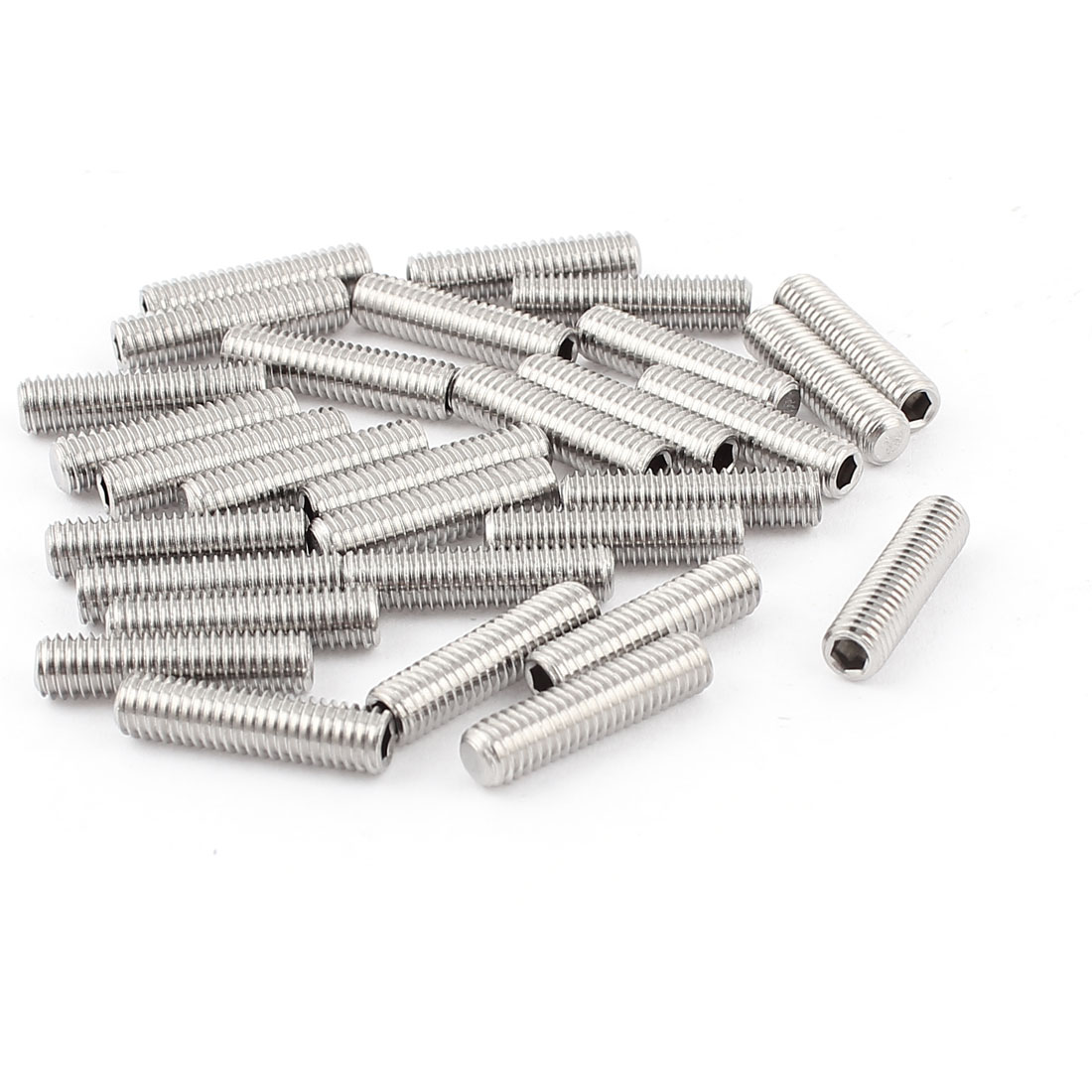 5mm x 20mm Stainless Steel Hexagon Socket Head Set Cup Point Grub Screws 30pcs