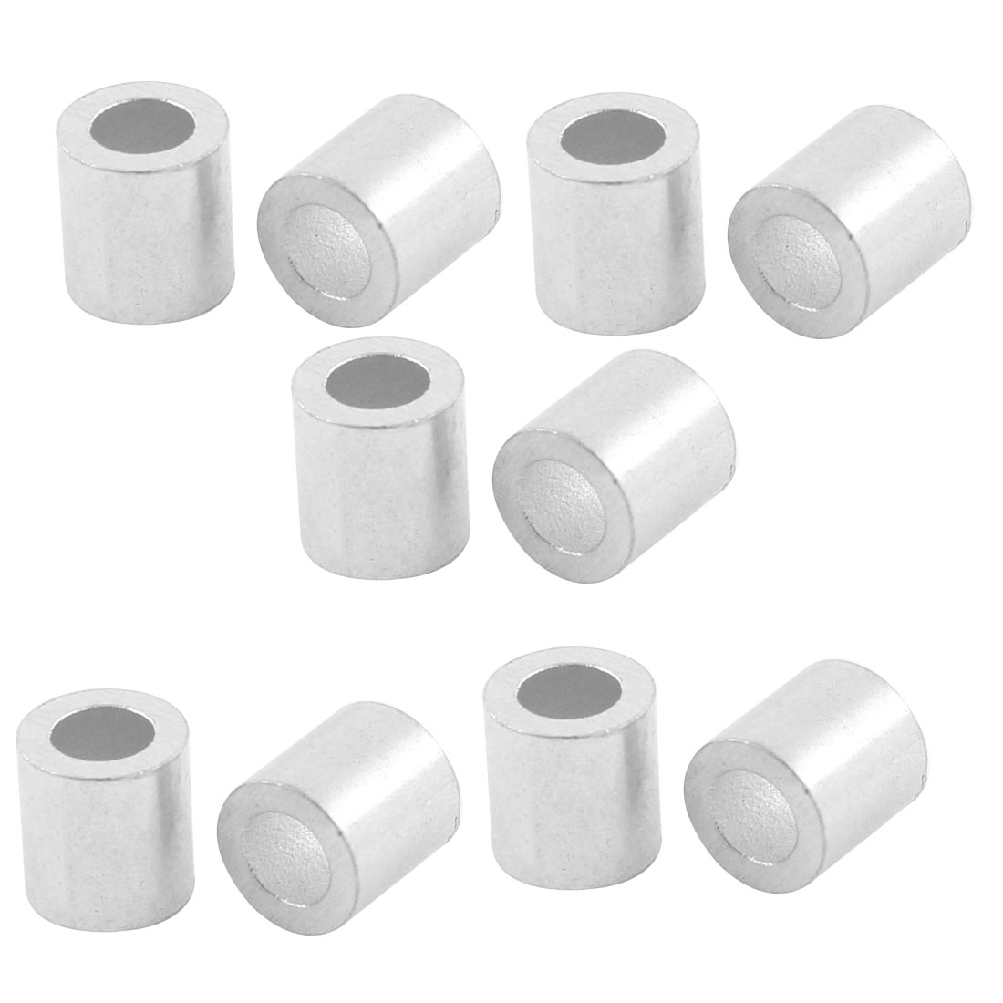 10pcs Aluminum Cable Stops Sleeves for 4mm Wire Rope Swage Clip
