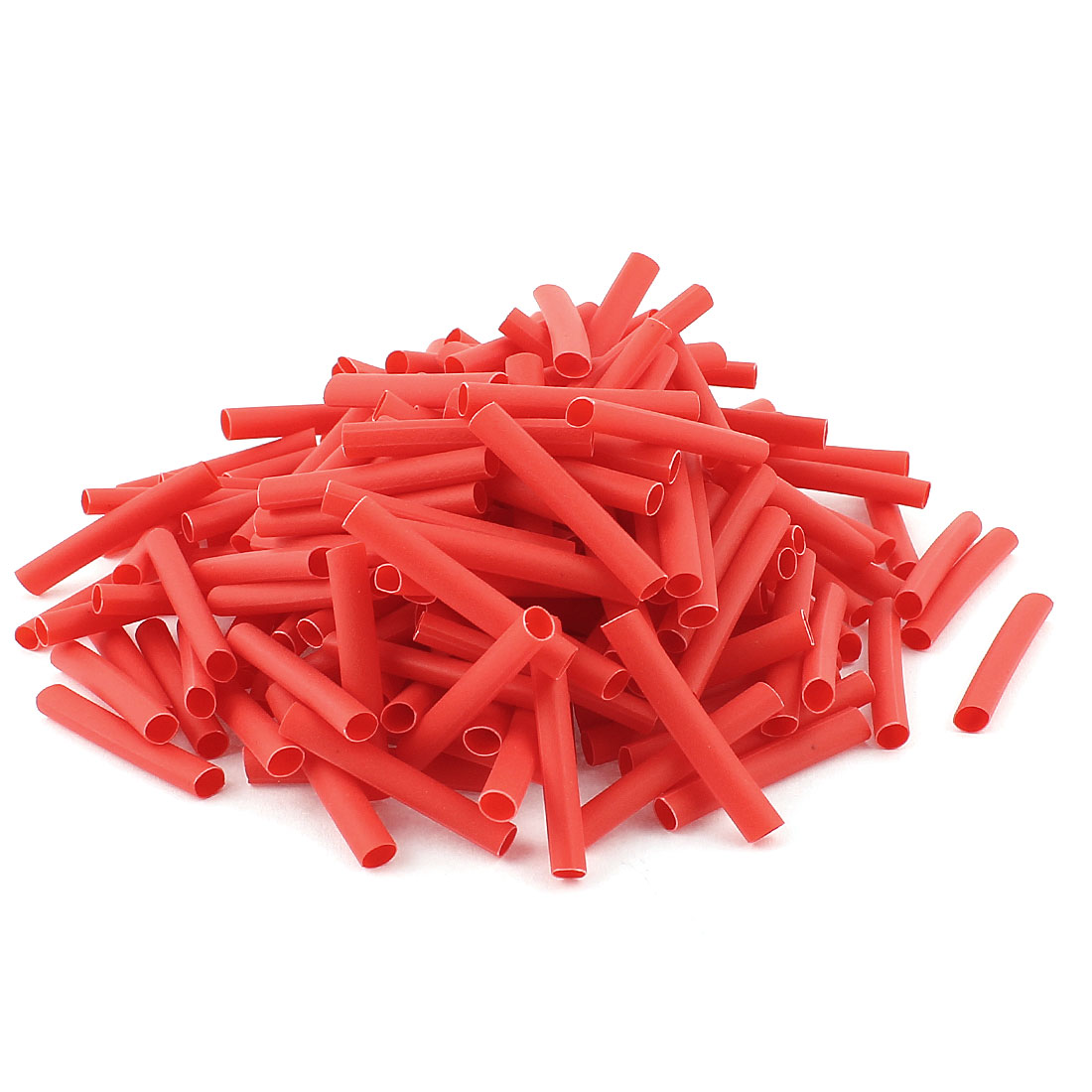 Red 3mm Dia 2:1 Polyolefin Heat Shrink Tubing Shrinkable Tube 30mm 200pcs