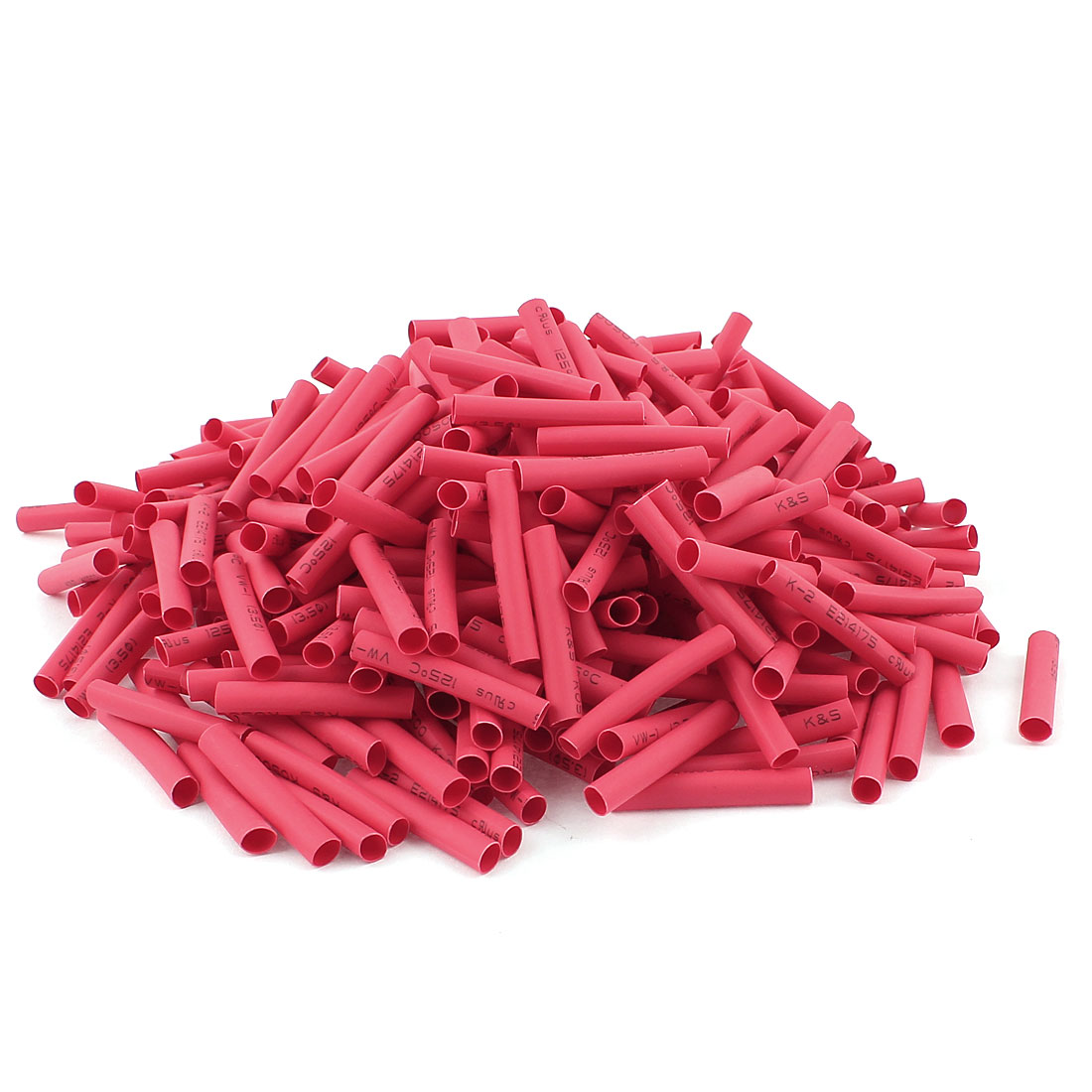Red 3.5mm Dia 2:1 Polyolefin Heat Shrink Tubing Shrinkable Tube 30mm 400pcs