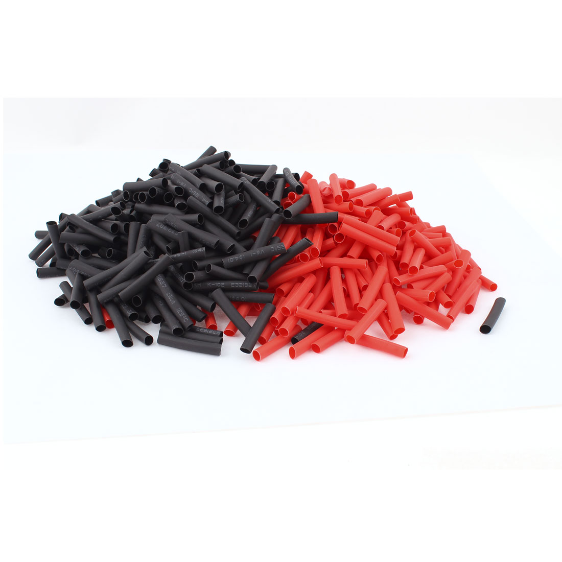 Red Black 4mm Dia 2:1 Polyolefin Heat Shrink Tubing Shrinkable Tube 30mm 600pcs
