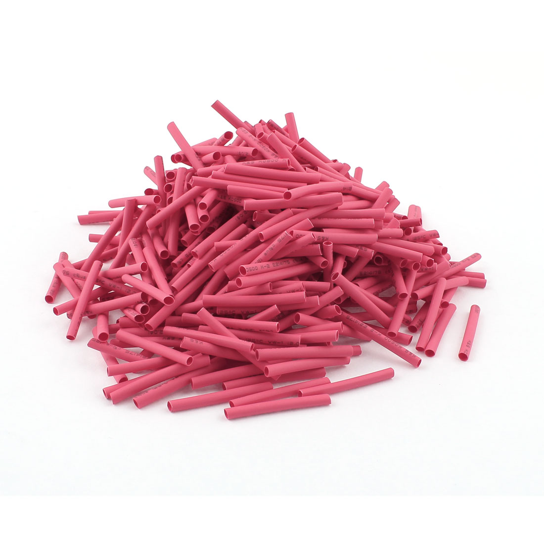 Red 2mm Dia 2:1 Polyolefin Heat Shrink Tubing Shrinkable Tube 30mm 460pcs