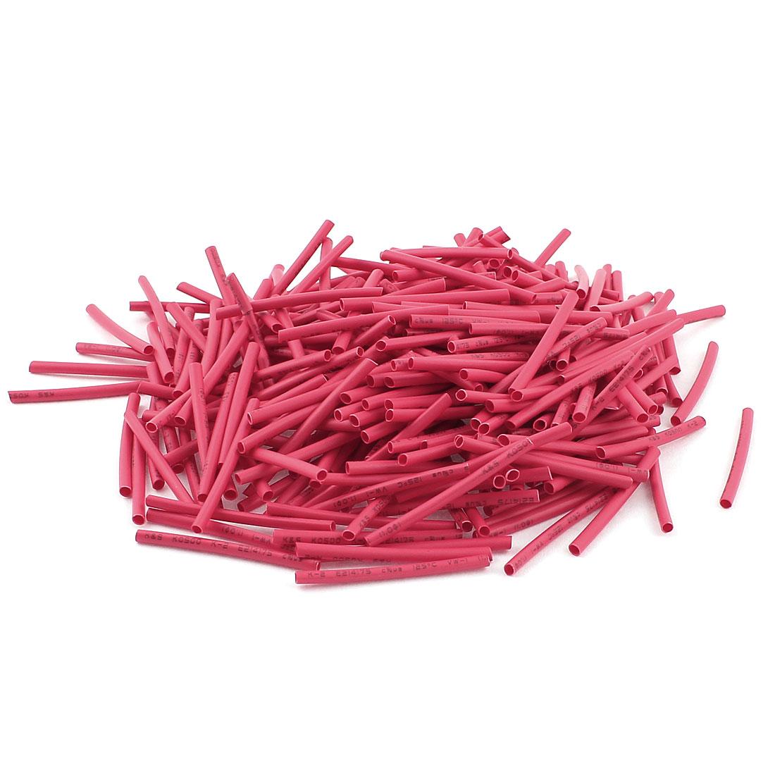 Red 1mm Dia 2:1 Polyolefin Heat Shrink Tubing Shrinkable Tube 30mm 350pcs
