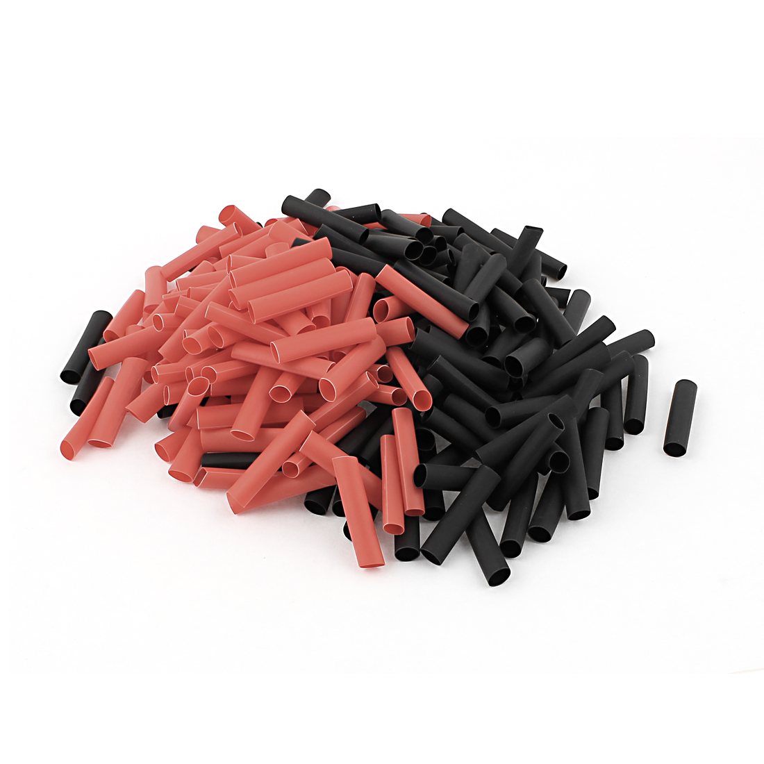Red Black 5mm Dia 2:1 Polyolefin Heat Shrink Tubing Shrinkable Tube 30mm 240pcs