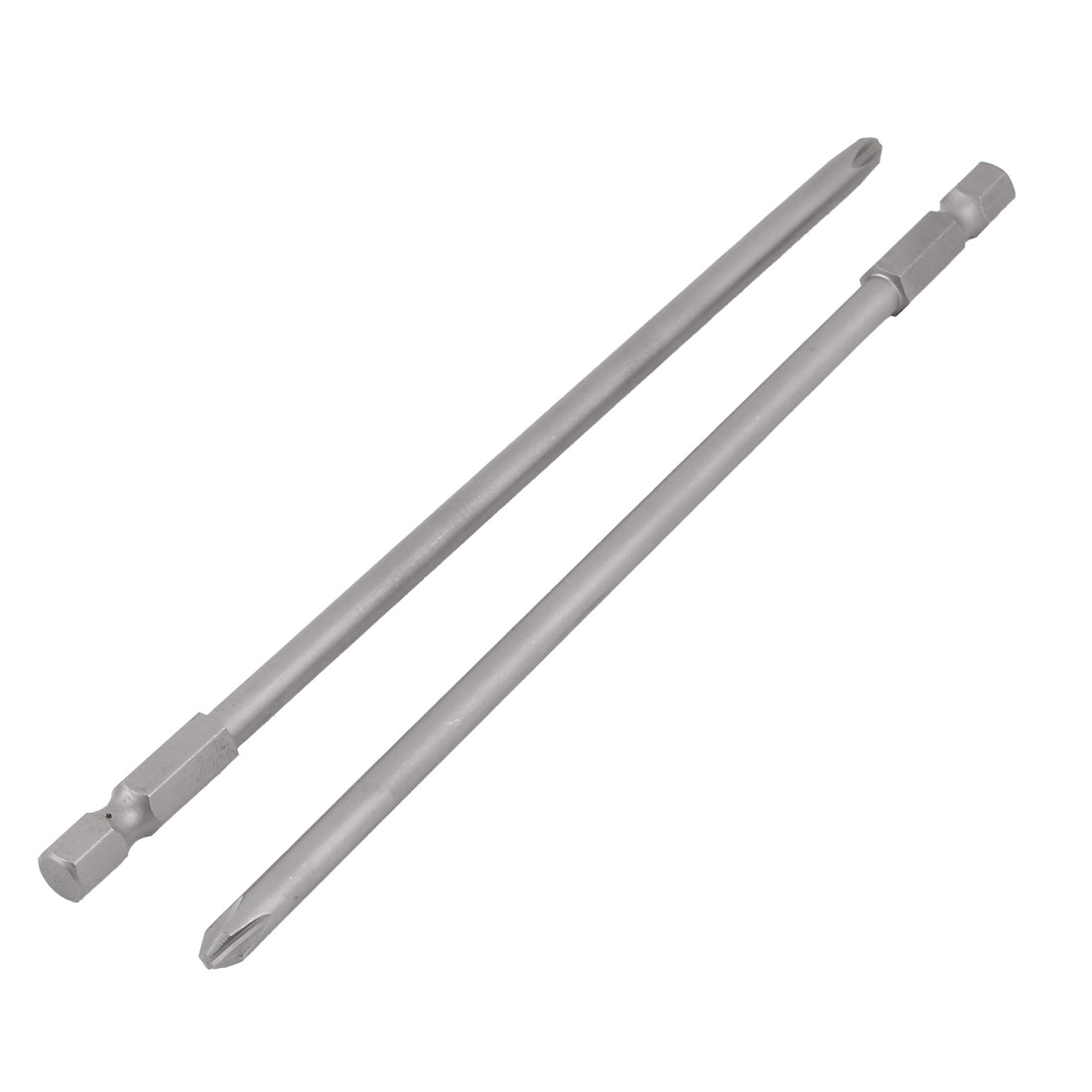 "2pcs 1/4"" Hex Shank 5mm PH1 Magnetic Phillips Crosshead Screwdriver Bits 150mm"