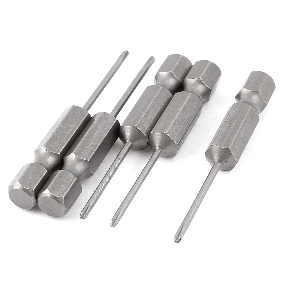 "5pcs 1/4"" Hex Shank 1.5mm Tip PH000 Magnetic Phillips Crosshead Screwdriver Bits 50mm"