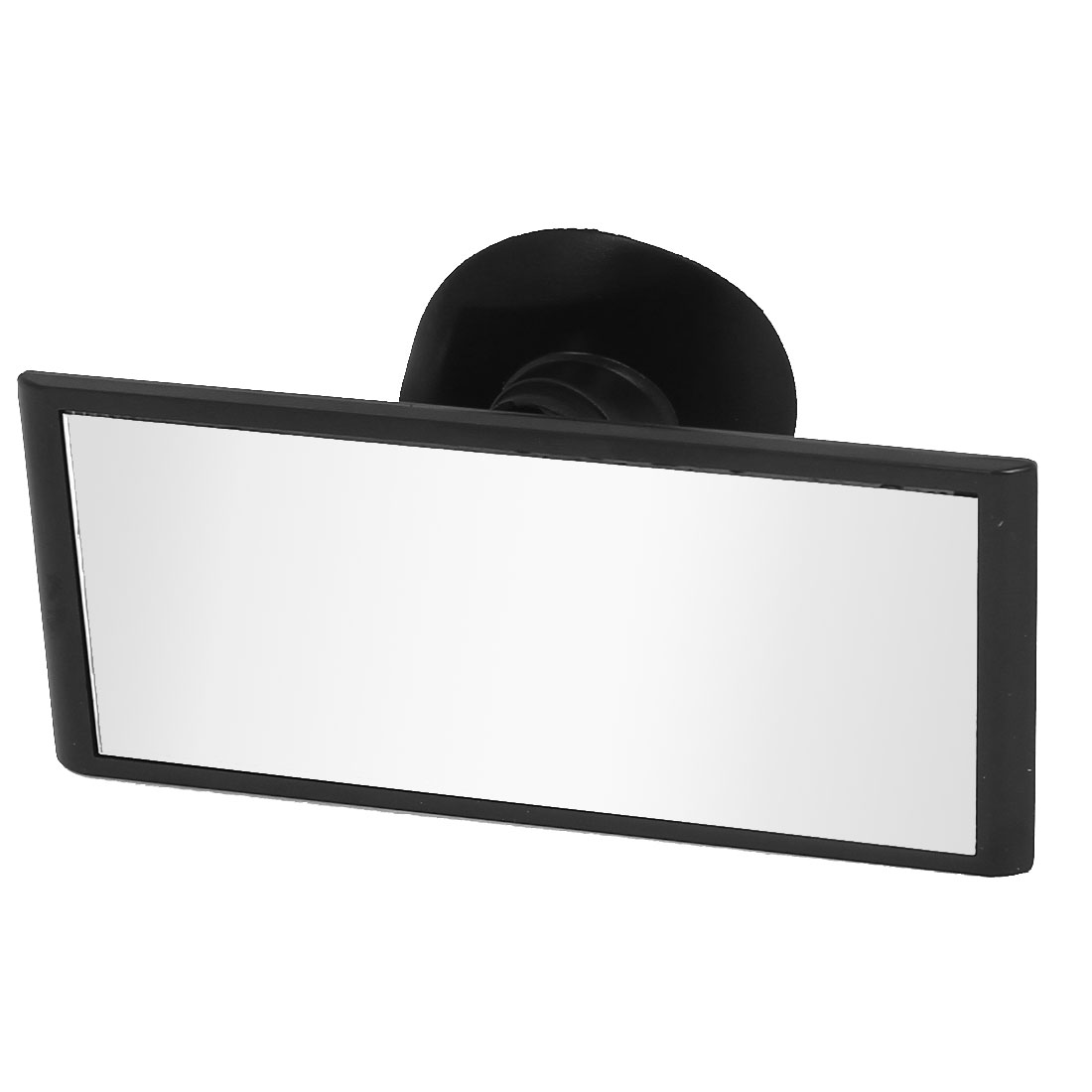 Black Suction Rectangle Flat Car Truck Windshield Rear View Mirror Blind Spot Parking Rearview