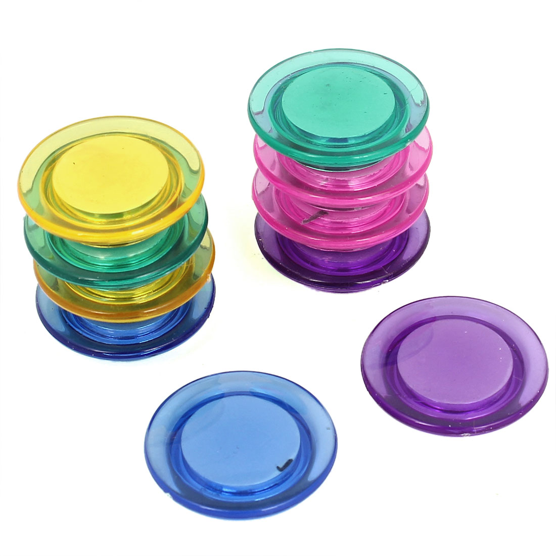 Home Office Round Assorted Color Whiteboard Fridge Magnetic Stickers Magnet Pin Button 10pcs