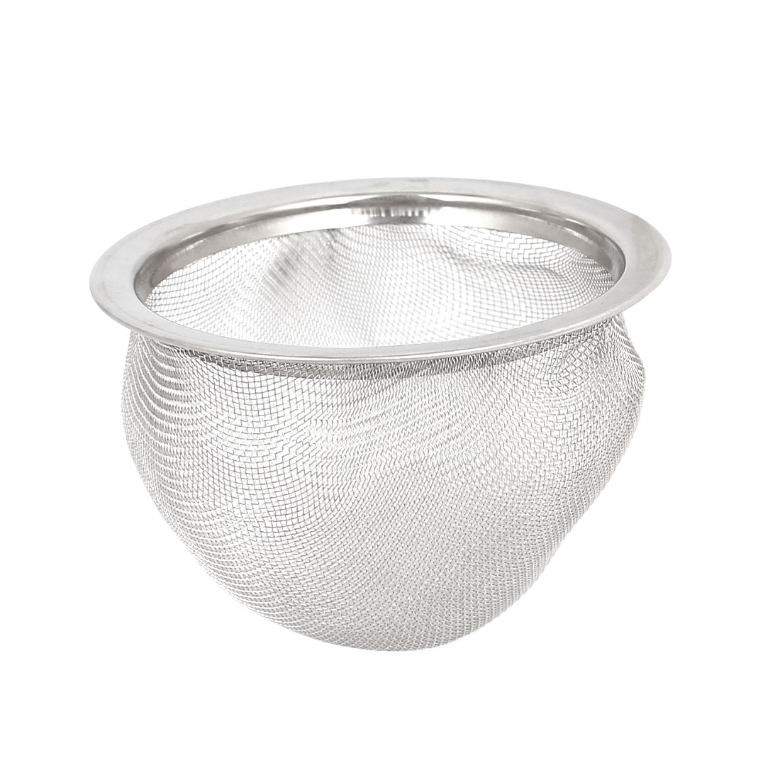 65mm x 50mm Silver Tone Stainless Steel Wire Mesh Round Filter Spice Tea Strainer Basket