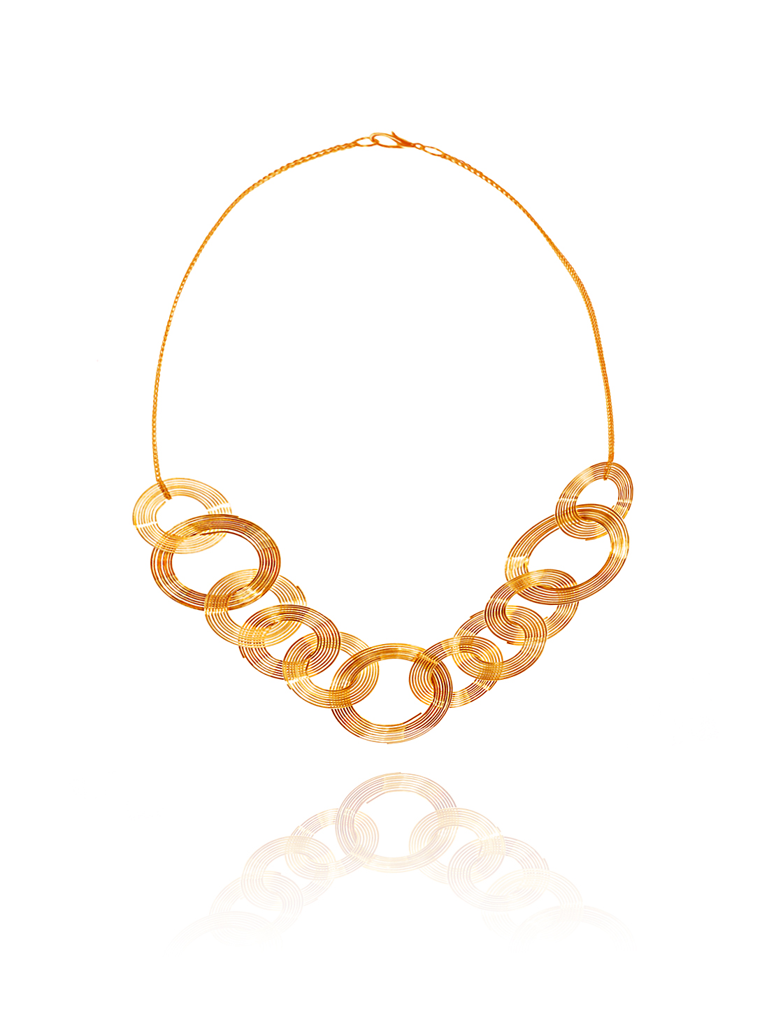 Gold Circle Statement Alloy Pendant Chain Bib Chunky Necklace Choker