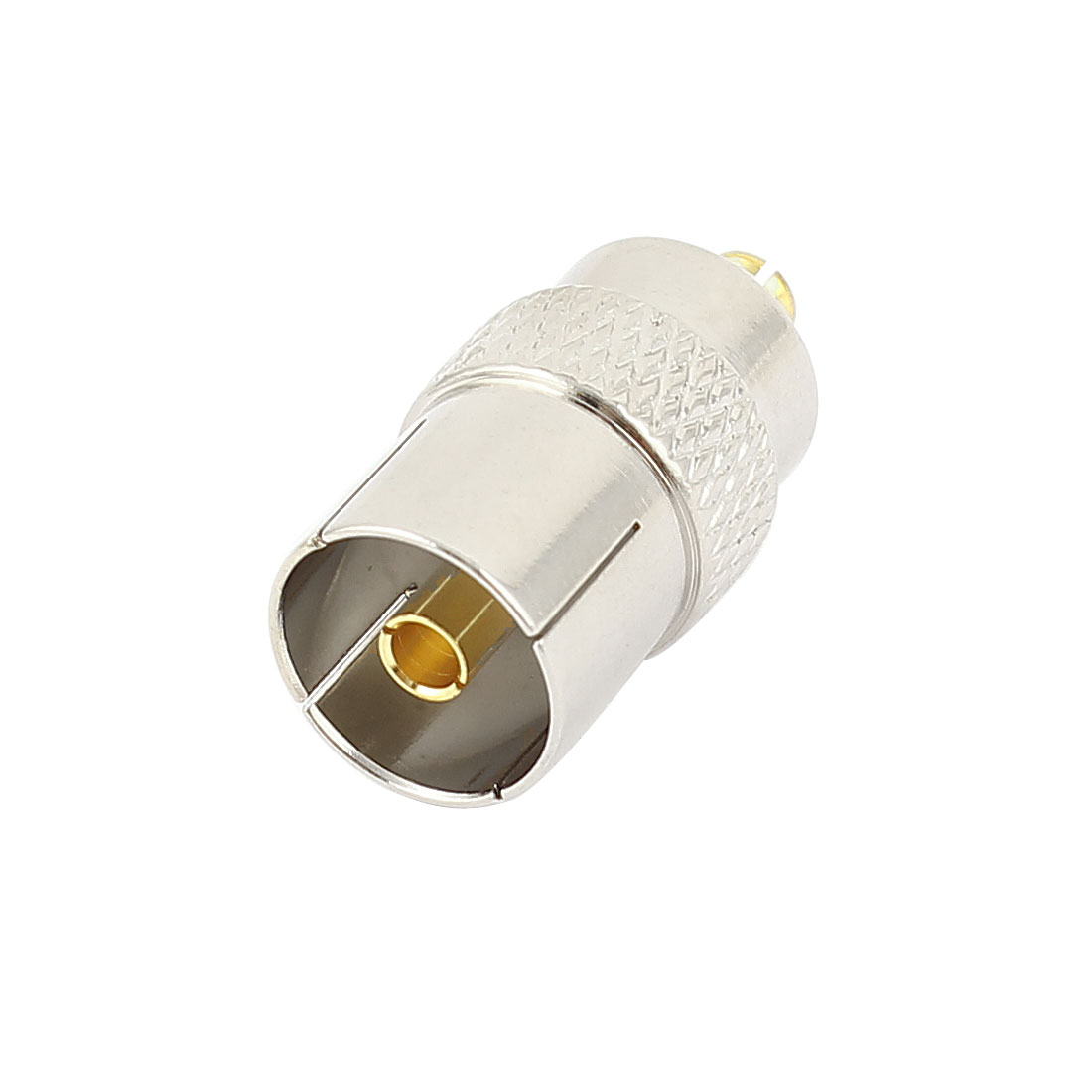Silver Plated MCX Male to TV Pal Female Connector RF Adapter