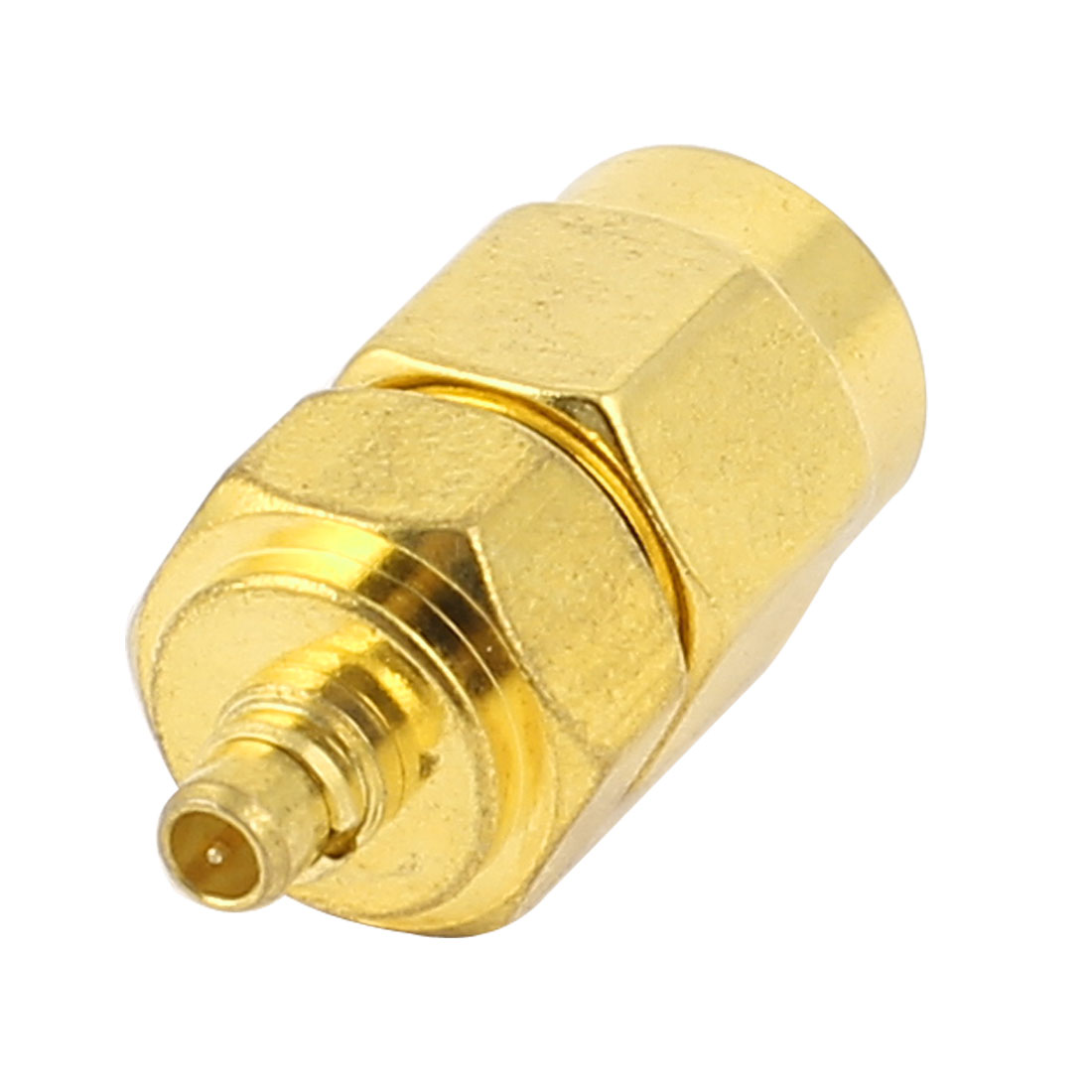 Gold Plated Straight SMA Male to MCX Male Coaxial RF Adapter Connector