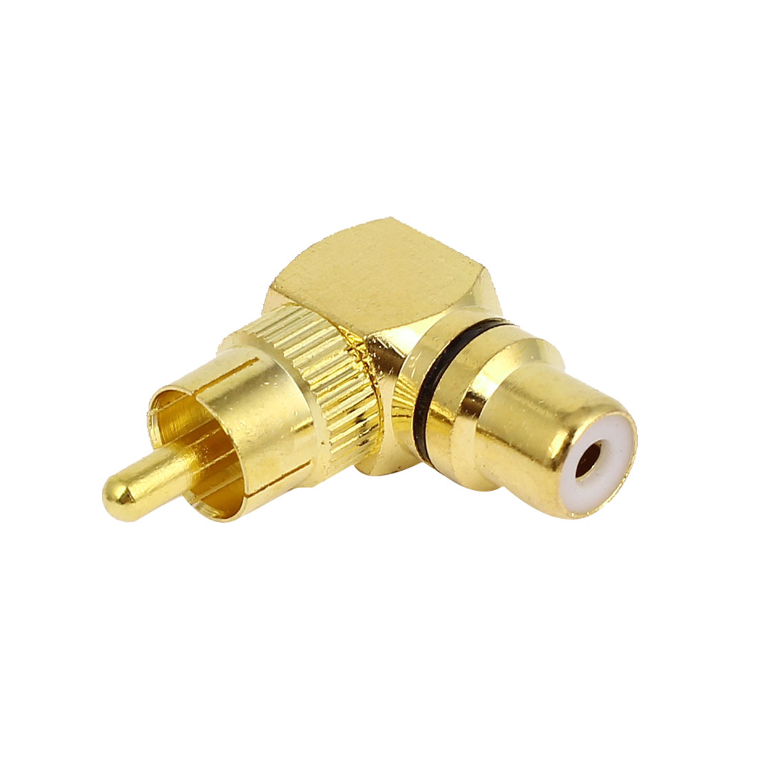 Gold Plated RCA Right Angle Connector Adapters Male to Female Jack