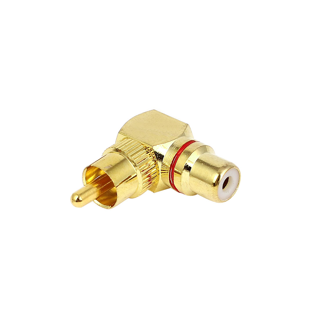 Gold Plated 90 Degree Elbow RCA Male to Female Jack Connector Adapters