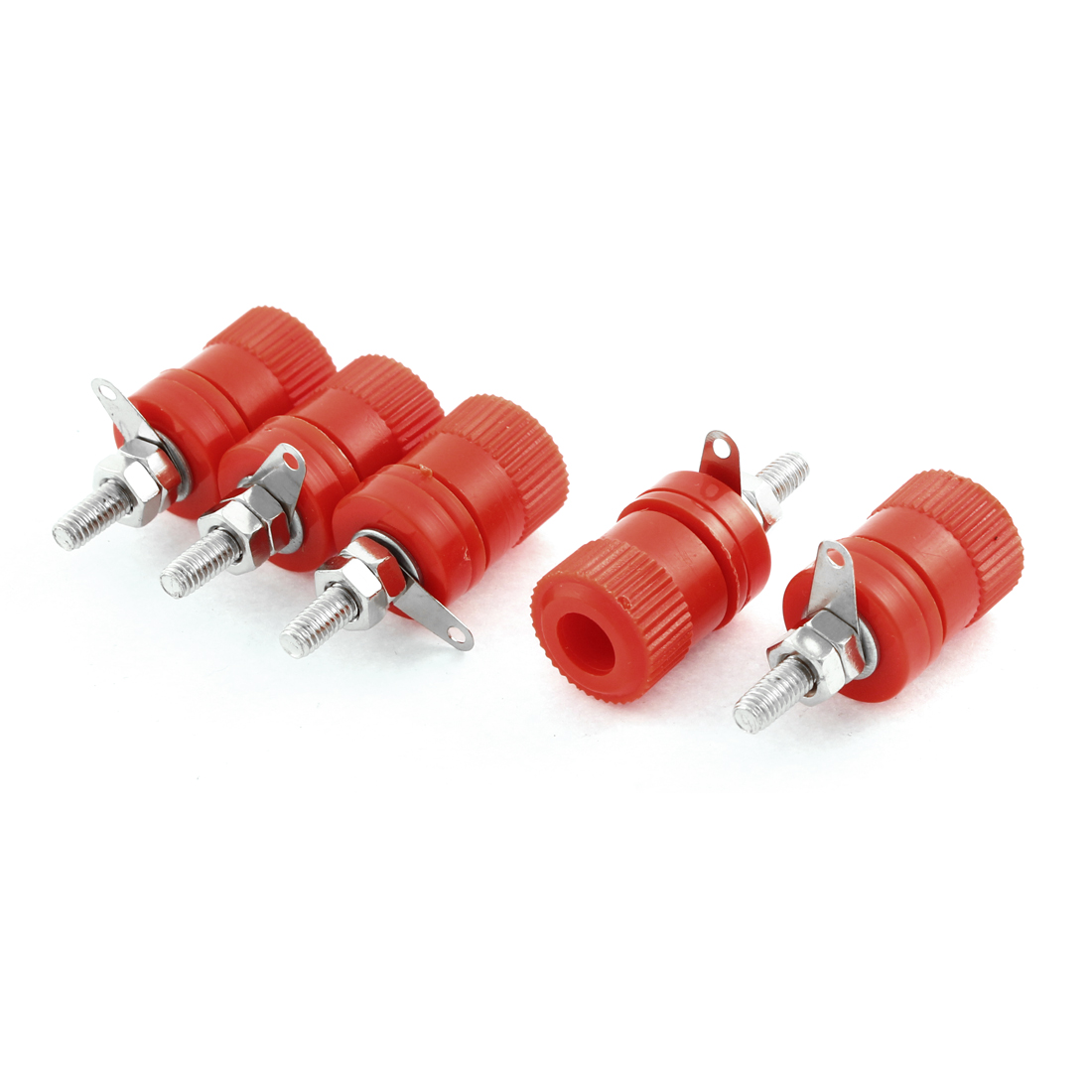 5PCS Panel Mount Amplifier Binding Posts 4mm Banana Socket Connector Red