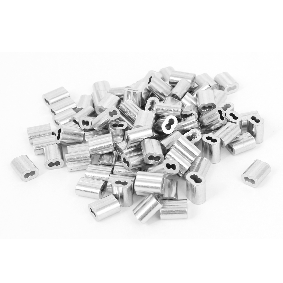 "1/16"" Wire Rope Aluminum Sleeves Clip Fittings Cable Crimps 100 Pcs"