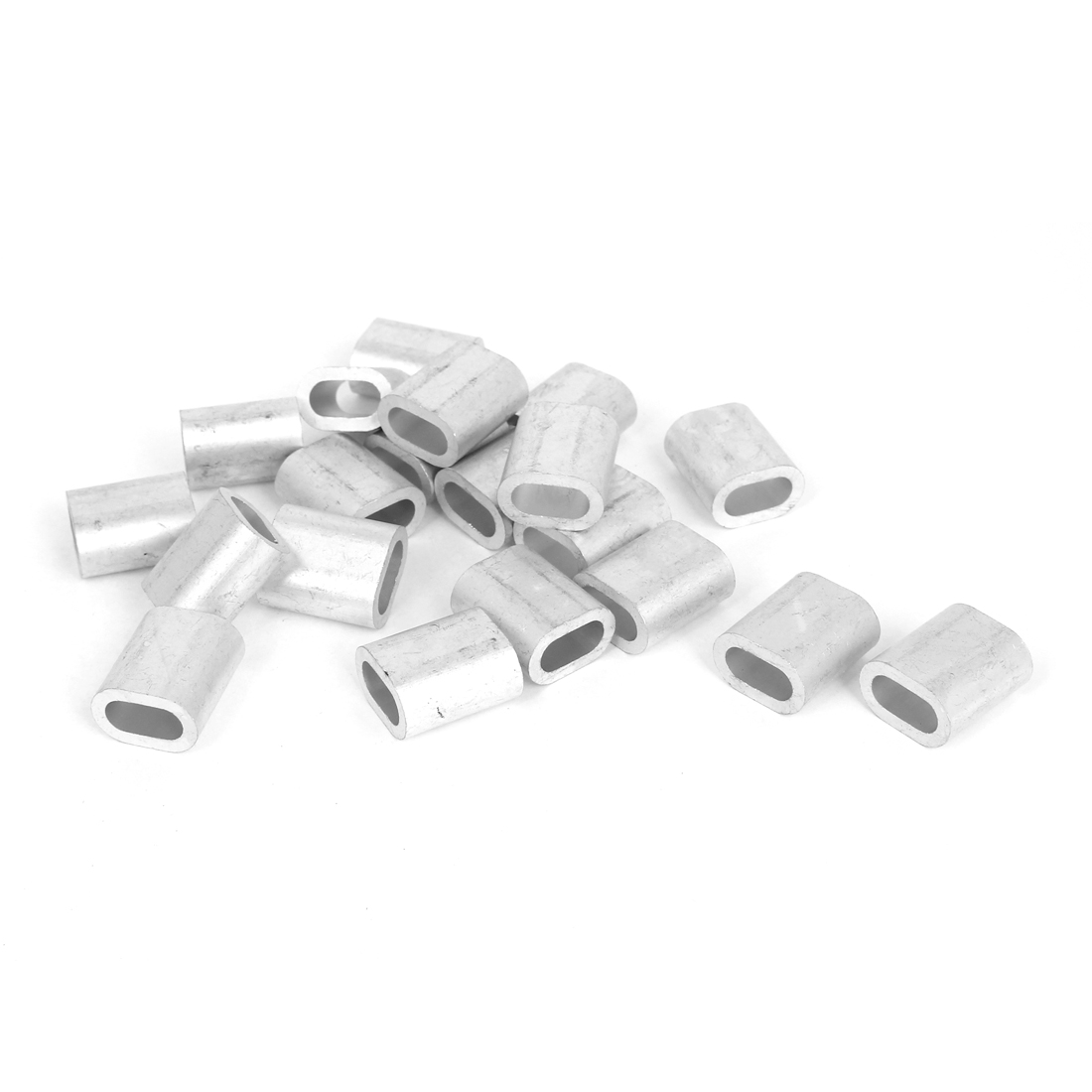 """1/4"""" Wire Rope Aluminum Sleeves Clip Fittings Loop Sleeve Cable Crimps 20pcs"""