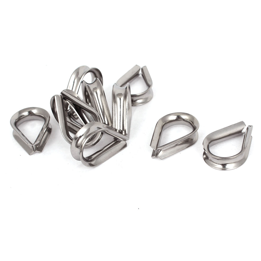 Stainless Steel 6mm Standard Wire Rope Cable Thimbles Rigging Tool 10pcs