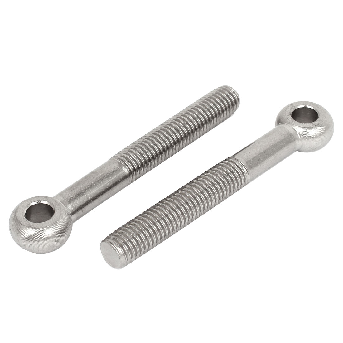 M14 x 100mm 10mm Eye Dia 304 Stainless Steel Swing Bolt Silver Tone 2 Pcs