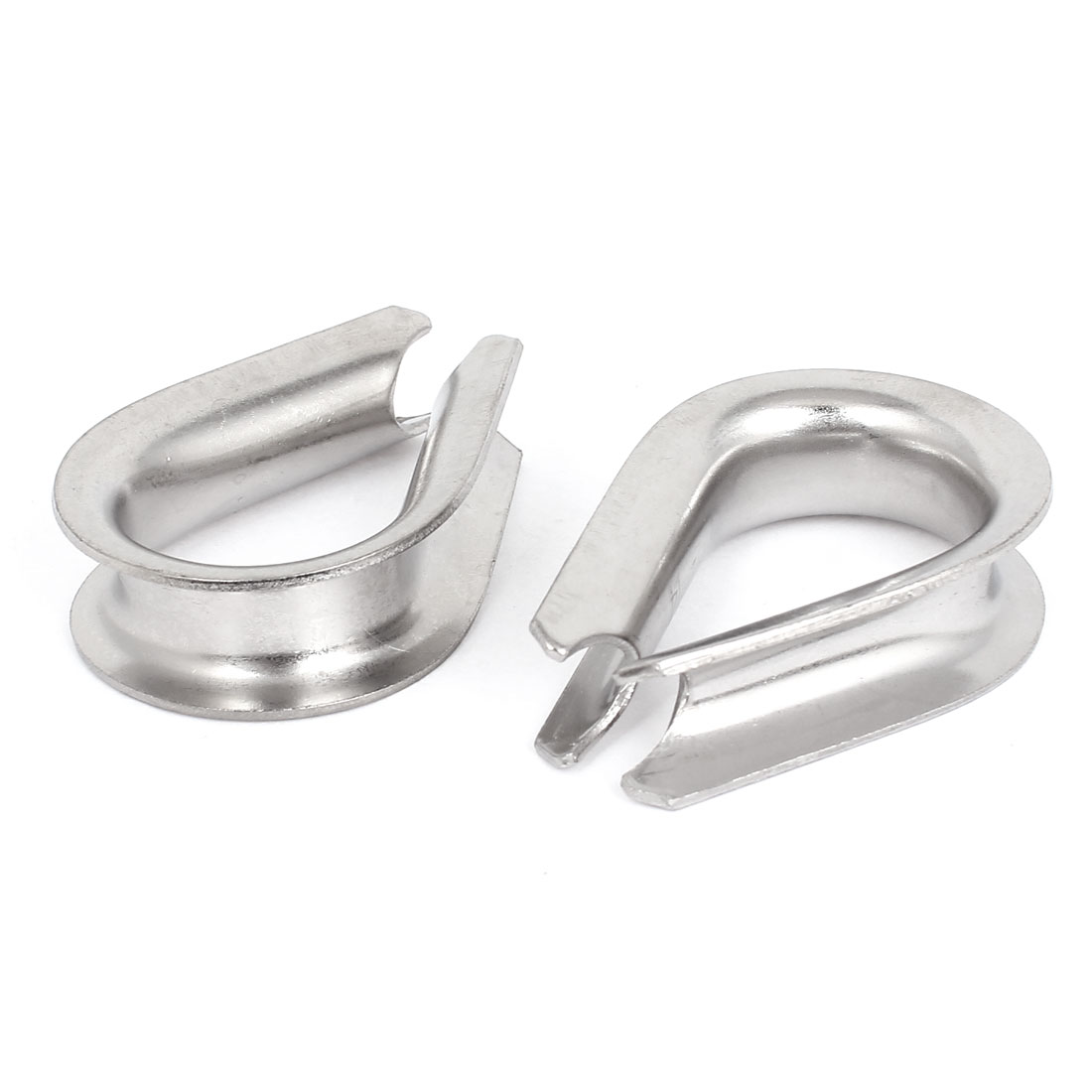 "Stainless Steel 14mm 9/16"" Standard Wire Rope Cable Thimbles Rigging Tool 2 Pcs"